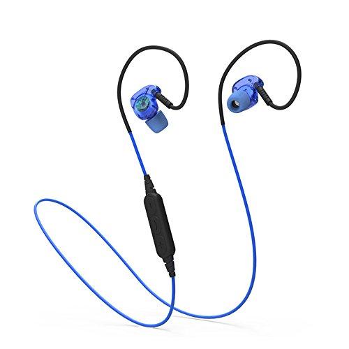 Finoki Bluetooth Kopfhörer 4.1 Sport Funk-Headset Wireless Headset drahtlosen Kopfhörer Bass-Effekt Ear Ohrhörer Noise Reduction Bluetooth-Headset (Blau)