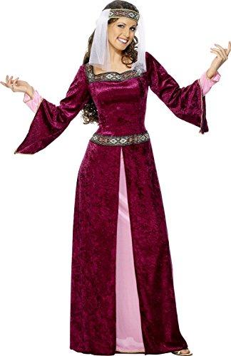 smiffys-costume-da-regina-medievale-donna-incl-vestito-e-fascia-per-capelli-taglia-m