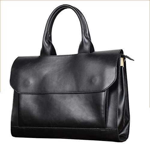 Weiche Aktentaschen (LF Schulter Messenger Bag Business Freizeit Arbeitstasche wasserdicht PU weiches Leder Aktentasche Laptop-Tasche Tablet Business tragbare Handtasche Männer und Frauen Rucksack)