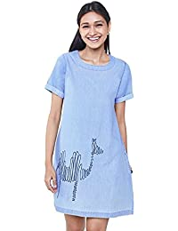 Global Desi Women's Shift Mini Dress