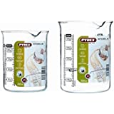 Pyrex Lot de 2 béchers en verre