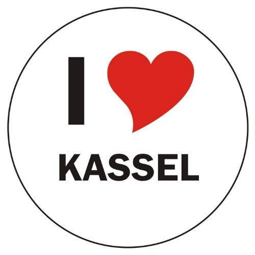 I Love KASSEL Laptopaufkleber Laptopskin 210x210 mm rund