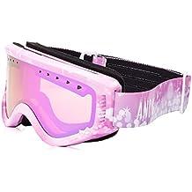 Burton niña Tracker–Gafas de snowboard, Otoño-invierno, niña, color Farie/Pink Amber, tamaño talla única