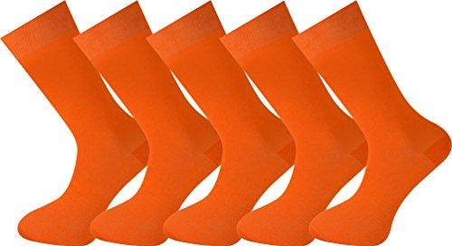 MySocks unisex 5 Paar Packsocken Orange -