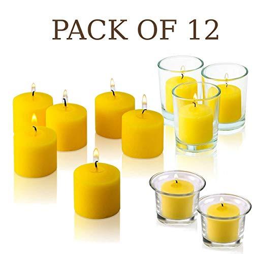 Light Set von 12Votivkerze Citronella Kerzen-Sommer Duft Kerzen-Mosquito Bug Repellent für Innen-/Außeneinsatz-10Stunden Brenndauer-Made in USA (In Made Kerzen Usa)