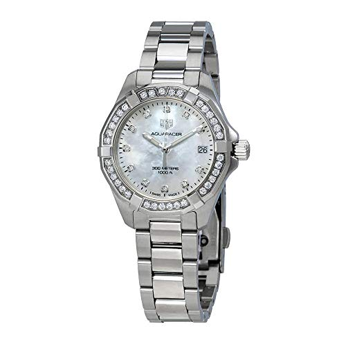 Tag Heuer Aquaracer Diamant weiß Mother of Pearl Zifferblatt Damen-Armbanduhr wbd1315. ba0740