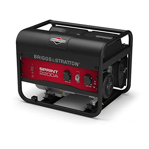 briggs & stratton sprint 2200a generatore portatile a benzina - potenza di funzionamento di 1700 watt/2125 watt di avviamento, 030671a