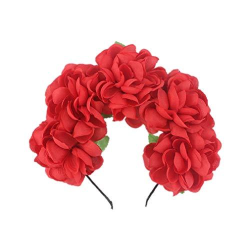 Hyhy Halloween Blume Haarband Partyhochzeit Blumenkranz Festival Kostüm Kopfschmuck, - Blume Festival Kostüm