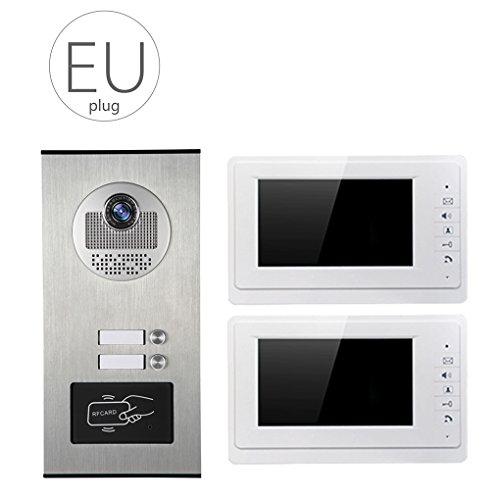 LUFA V70F 530 2 Video Türsprechanlage Video Intercom System 7 Zoll Zwei Monitore und eine HD Kamera Video Türklingel ID Karte Unclocking -