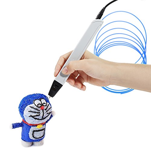 NexGadget Intelligent 3D Stift, Freihand 3D Zeichnungen, 3D Druck Feder Kompatibel mit PLA/ABS Filament + 3 Free 1.75mm Gluehfaden Refills,Printing Pen[2017 neueste Version]