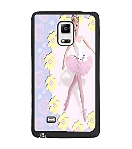 PrintDhaba Dancing Girl D-1083 Back Case Cover for SAMSUNG GALAXY NOTE EDGE (Multi-Coloured)