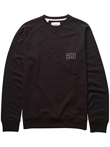 2017 Billabong Die Cut Crew Sweatshirt BLACK C1CR02 Black