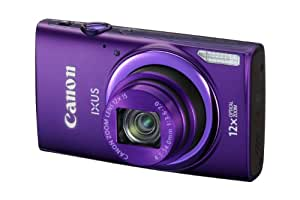 Canon IXUS 265 HSCompact Digital Camera - Purple (16MP, 12x Optical Zoom, 24x ZoomPlus, Wifi, NFC) 3inch LCD