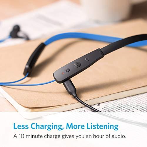 Anker SoundBuds Lite Bluetooth Kopfhörer, Leichtes Nackenband Headset, IPX5 Wasserfestes Sport In-Ear-Headset mit Geräuschreduzierung und In-Line Mikrofon (Blau) - 7
