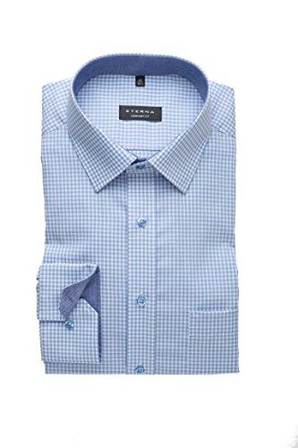 Eterna - Comfort Fit - Herren Langarm Hemd mit Kent Kragen, Bügelfrei (8913 E15P) Blau (12)