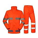 Gilet di sicurezza per lavori all'aperto Giacche impermeabili Impermeabile riflettente Sicurezza del traffico stradale Avvertenza Pantaloni impermeabili da esterno Tuta da uomo e da donna Adulto Spala