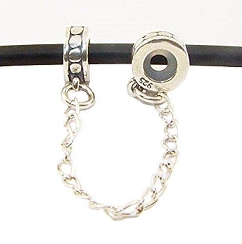 Andante-Stones Argento massiccio 925 originale catenaccio Stopper Ciondolo da donna Charm Bead per bracciali europei + sacchetto di organza