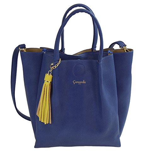 Camomilla Milano , Sac pour femme à porter à l'épaule Bleu bleu M