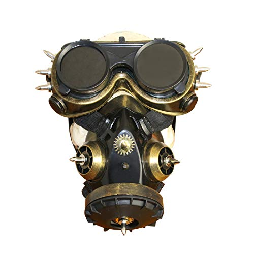 MAGAI Biohazard Steampunk Gasmaske Goggles Spikes Skeleton Krieger Death Mask Masquerade Cosplay Halloween Kostüm Requisiten (Farbe : Style4)