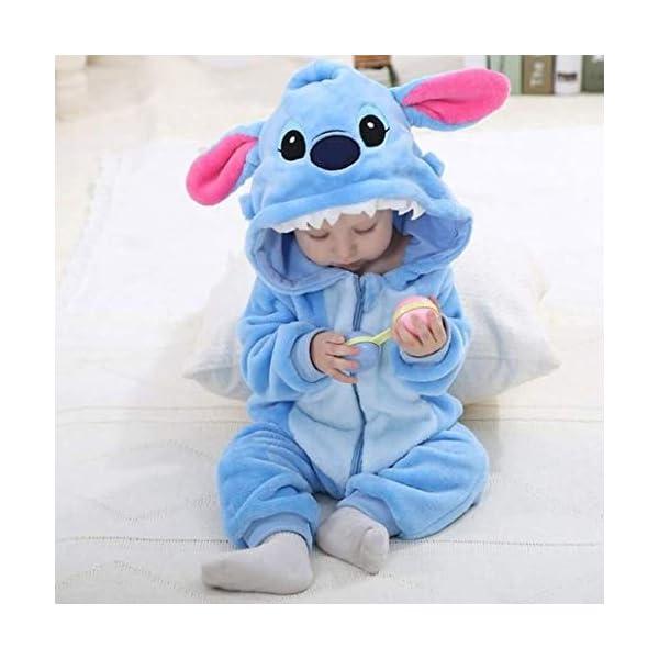 Runuo Bebé recién Nacido con Capucha Mameluco para niños pequeños Mono Infantil Trajes de Invierno Pijamas 4