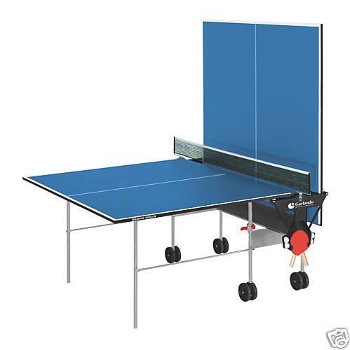 GARLANDO TRAINING INDOOR VERDE Tavolo ping pong per uso interno + 4 racchette + 12 palline in Omaggio