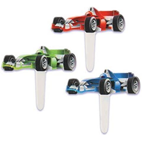 Car Auto Racing Race Cupcake Picks - Pkg of 24 by Bakery Supplies