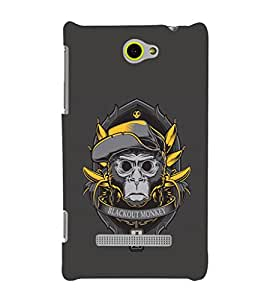 EPICCASE Blackout Monkey Mobile Back Case Cover For HTC Windows Phone 8S (Designer Case)