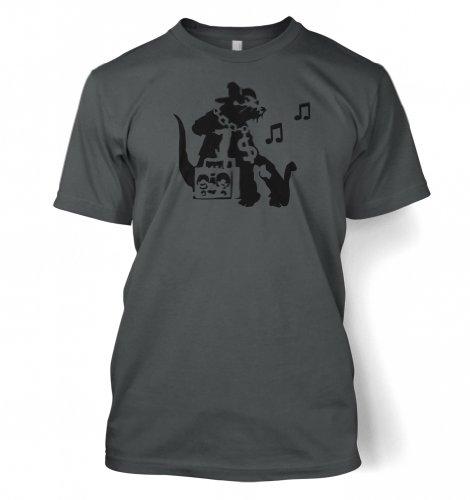 Ghetto Ratte Banksy Männer T-Shirt Dunkelgrau