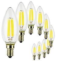 Confezione di dieci lampadine 5W a Filamento LED SunSeed in Zaffiro Sintetico sostituisce la classica lampadina a incandescenza da 50W ricalcandone l'aspetto e la diffusione della luce. Il Filamento LED in Zaffiro Sintetico fornisce una maggi...