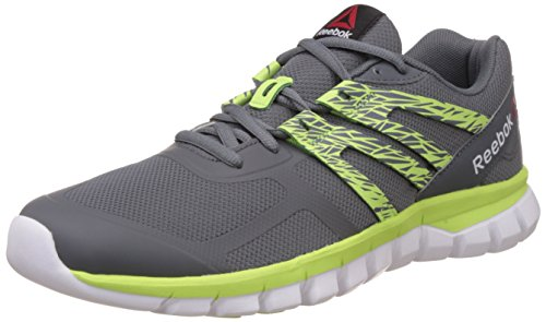 Reebok Women's Sublite Xt Cushion Shtrmt Grey, Green and White Running Shoes – 4 UK 414HH 3Wb1L