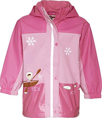 Playshoes Mädchen Regenmantel 408595-18 Playshoes Winter Regenjacke mit Fleecefutter, Style Eskimo, rosa-pink, Gr. 104, Pink (18 pink)