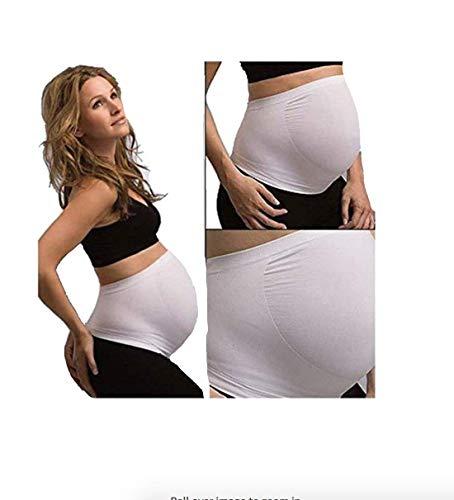Faja de vientre para embarazada RNB, 100% sin costuras, mayor comodidad WHITE M Medium