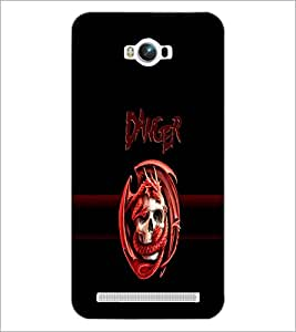 PrintDhaba Danger D-4262 Back Case Cover for ASUS ZENFONE MAX ZC550KL (2016) (Multi-Coloured)