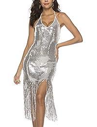 LMMET Vestiti Donna Elegante Cerimonia Aderente Mini Vestiti Eleganti  Estate da Sera Donna Aderenti Vestito Corto Donna… EUR 5 79d31f243ab