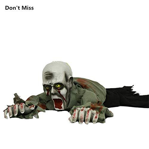WSJDE Halloween Party Krabbeln Zombie Gruselig Dämon Ekelhaftes Spielzeug Kostüm Party Horror Stimme Spielzeug Puppe Spukhaus Leuchtende - Zombie Puppen Kostüm