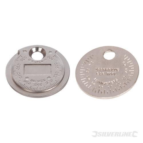 Silverline 202148Messwerkzeug Zündkerze Gap Werkzeug 0,5mm-2,55mm/0,1cm-0,3cm
