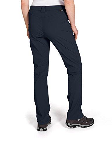 Jack Wolfskin Activate Light Pantalon Softshell pour femme Marron - Bleu marine