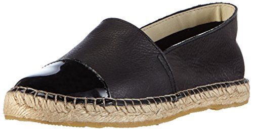 Pieces Psjosephine Leather Espadrillos, Espadrilles femme Noir (Black)