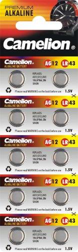 Camelion Premium Alkaline AG12 / LR43 / 386 10er-Blister [Elektronik]