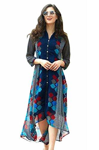 Luxx Fashion Women's Dress (Blue_X-Large)