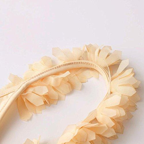 OverDose Donne tridimensionale fiori Backless tuta costumi da bagno Giallo