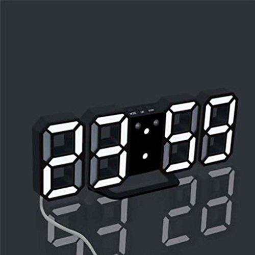 samLIKE wecker, Moderne Digital LED Tisch Schreibtisch Nacht Wanduhr Wecker 24 oder 12 Stunden Anzeige (A)