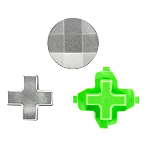 eXtremeRate 3 in 1 Xbox One/S/Elite Steuerkreuz D-Pad Knöpfe Sticks Buttons Kappen Mod Kit Tasten Set aus Aluminium für Xbox One/S/Elite(3 Teiliges Set)
