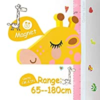 Height Chart for Kids, AOBETAK Magnetic 3D Stereo Animal Kid Growth Wall Height Measure Ruler Stickers for Boys Girls Children Bedroom Nursery Wall Decorations,with Mark Pen,Giraffe