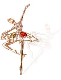Fashion Plaza Broche Broche Femme vielfarbigem cristal Ballet aenzerin forme br701