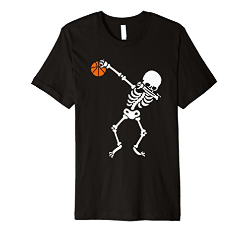 Sanftes Skelett Halloween Basketball T-Shirt DAB ()