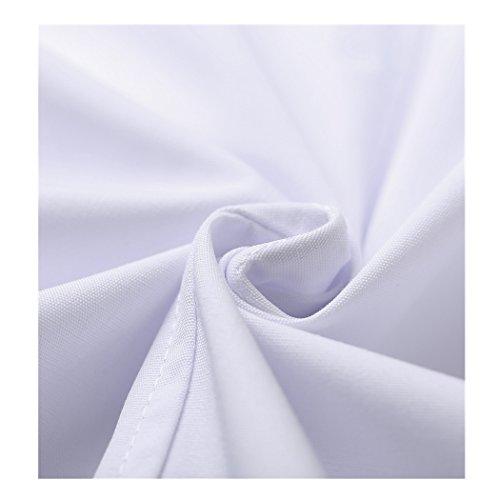 Kurzarm lange abschnitt weiß kittel ärzte krankenschwestern bekleidung arbeitskleidung arbeit (damen, M) - 8