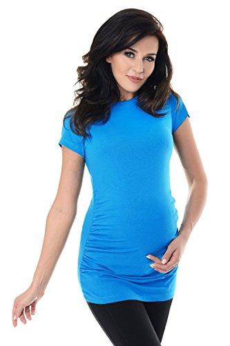 Purpless Maternity Umstands T-Shirt Schwangerschaft Top 5025 Sky Blue