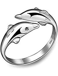 Trifycore La Mujer un Anillo de Bodas de Plata de Ley 925 Anillo de Compromiso de