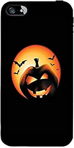Snoogg Halloween Pumpkin Designer Protective Back Case Cover Forapple Iphone ...